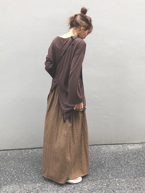 低身長×ぽっちゃりさんの秋スカートコーデ3
