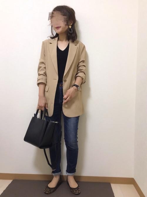 ユニクロのプチプラ秋ファッション7