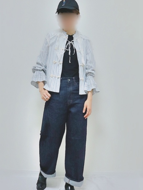 [BEAMS WOMEN] maturely / Dobby Frog Button Shirts