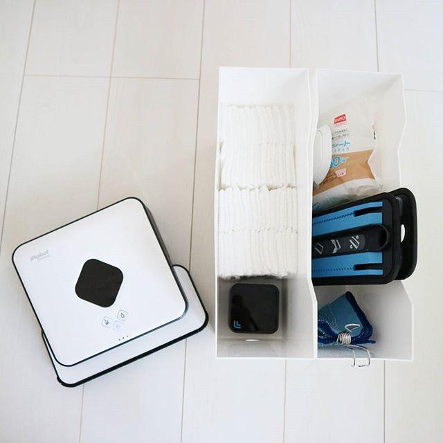 ニトリのファイルボックス収納【掃除用品】3