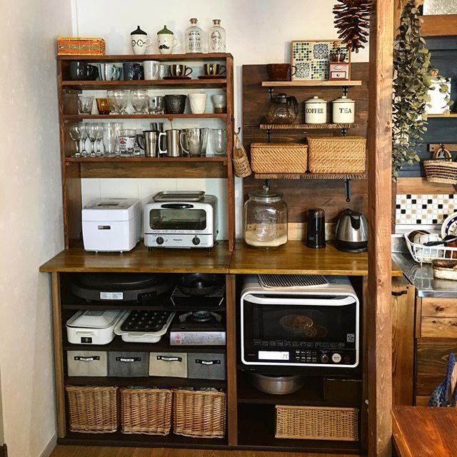 卓上型で手軽な簡単DIY食器棚のキッチン収納