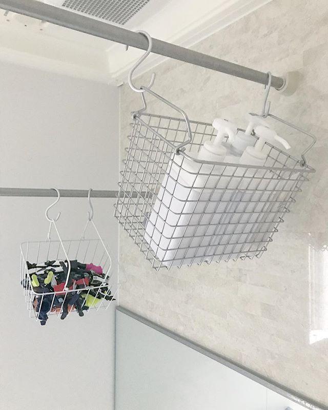 バスルーム収納におすすめのワイヤーラック