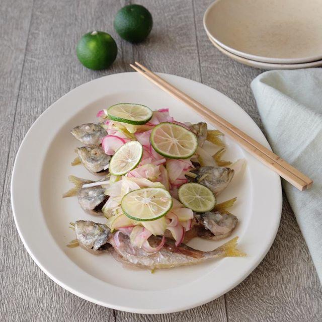 和風料理のレシピ。豆アジの南蛮漬け