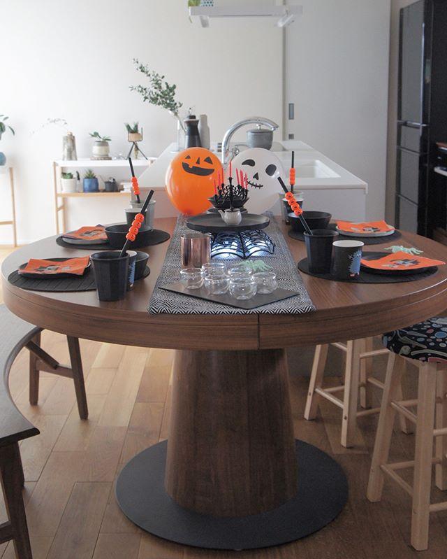 ハロウィン当日のテーブルコーディネート