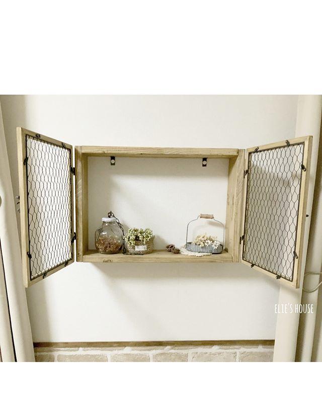100均のワイヤーで作るナチュラル小物の飾り棚