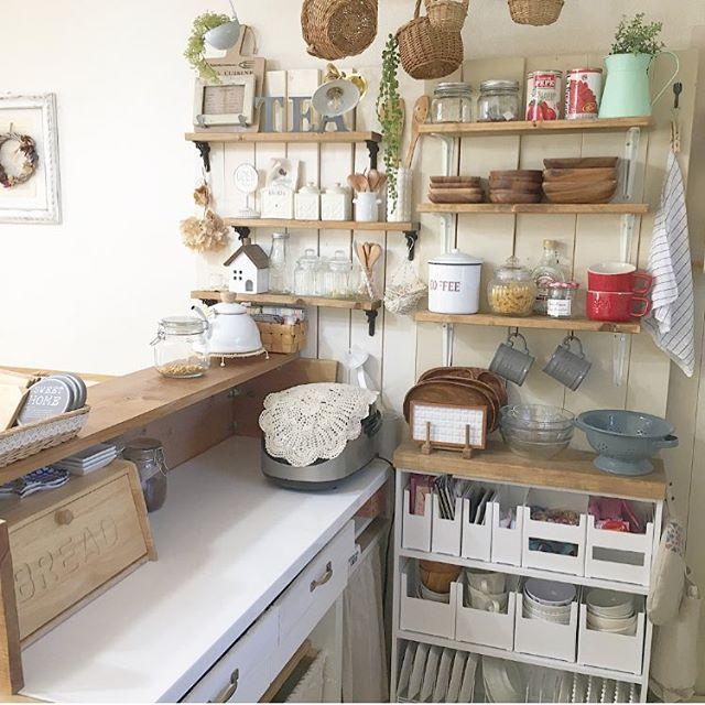 本棚を使った簡単DIY食器棚のキッチン収納