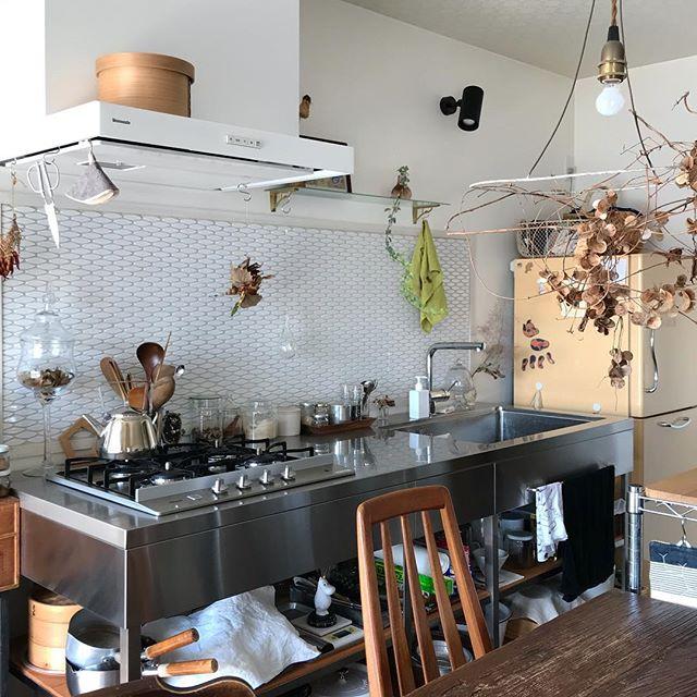 冷蔵庫の配置とI型キッチン①