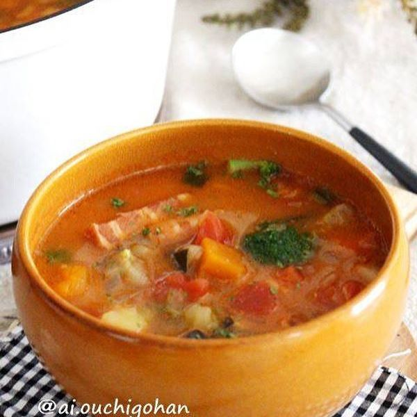 野菜たっぷりの夕飯☆スープ4
