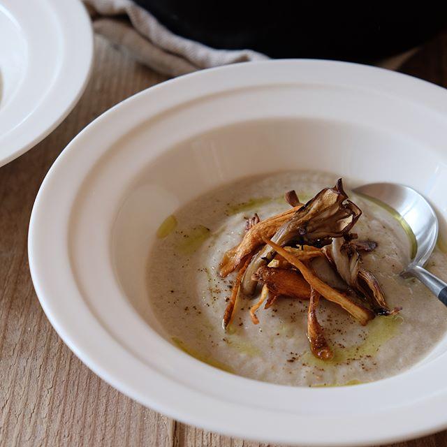 誕生日に。ごぼうと舞茸のポタージュスープ
