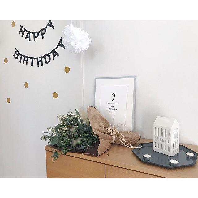 誕生日のおしゃれな飾り付け4