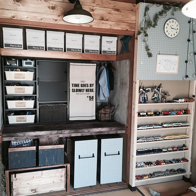 子供部屋のミニカー専用簡単DIY収納棚