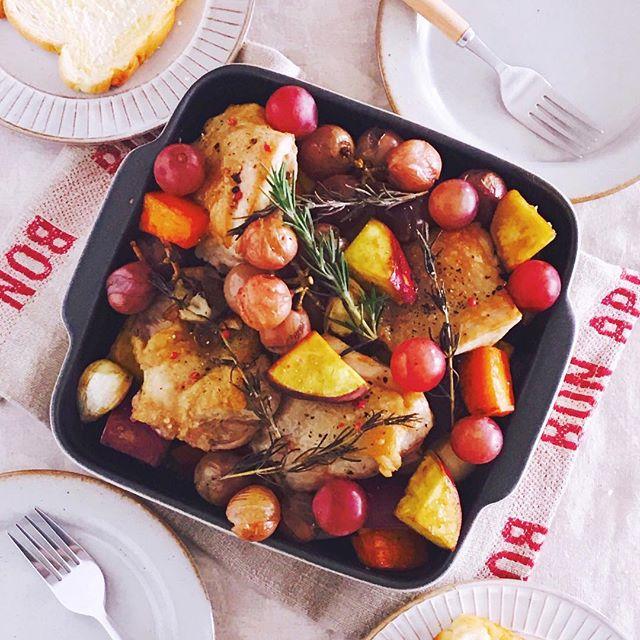 オーブンで鶏肉の美味しいレシピ☆おもてなし5