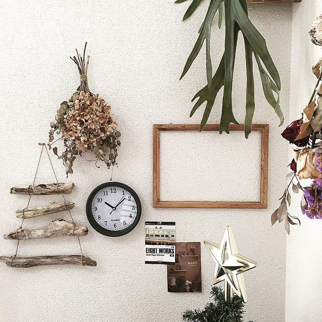 リビングの壁の飾り付けアイデア《グリーン》3