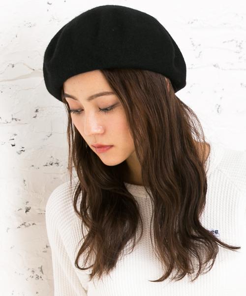[QUEENHEAD] ゆったりリブベレー帽
