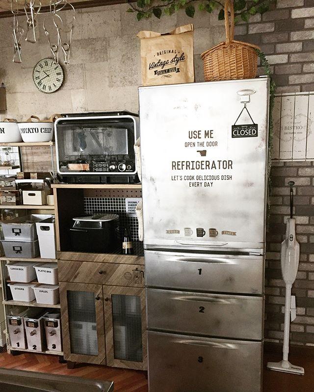 冷蔵庫 キッチンデコレーション