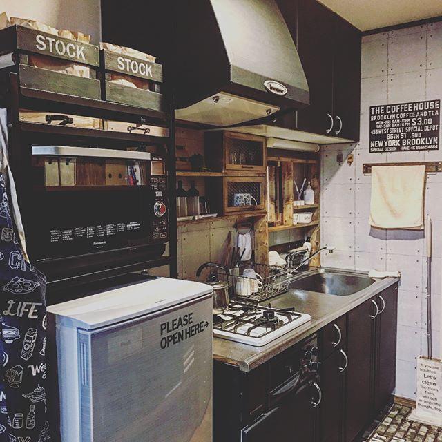 冷蔵庫の配置とI型キッチン③