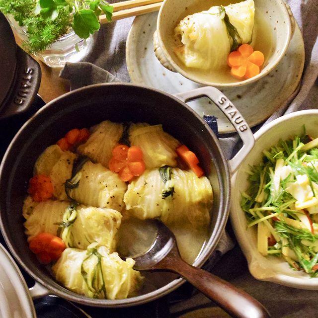和食で人気!ロール白菜