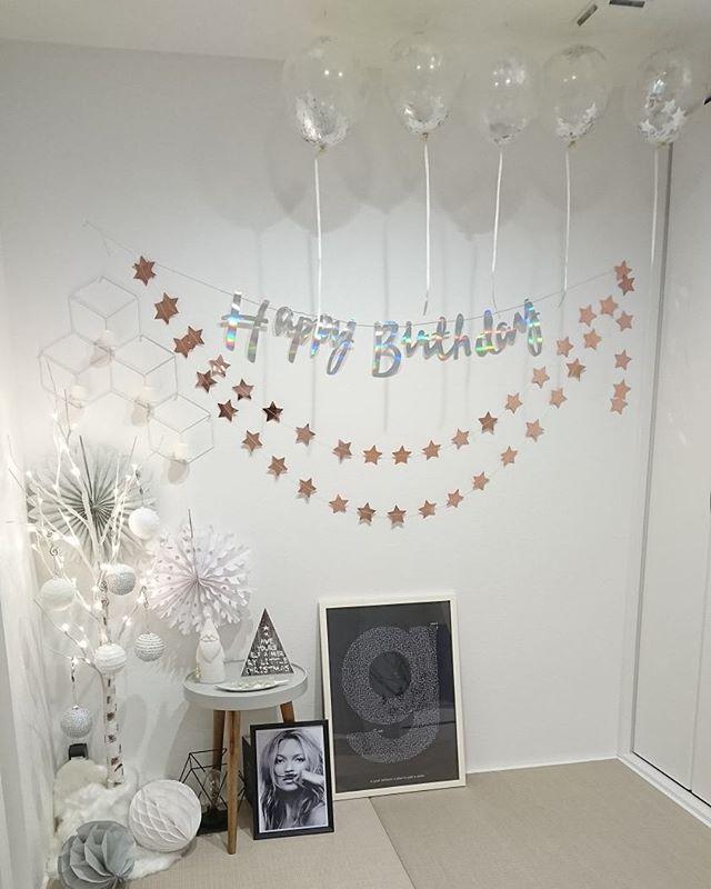 誕生日のおしゃれな飾り付け11