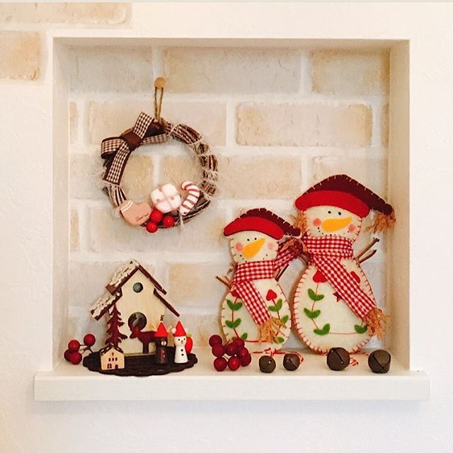 小物を集めておしゃれな冬の飾り付け