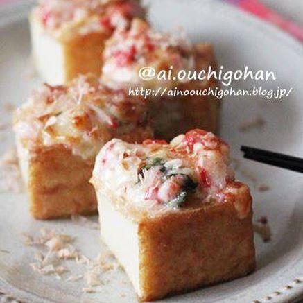 美味しいレシピ!厚揚げの和風マヨ焼き