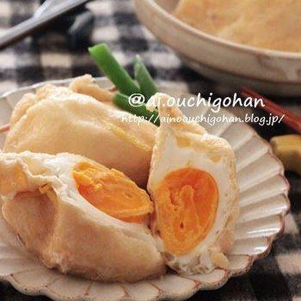 和風のおすすめ卵料理。油揚げの袋煮