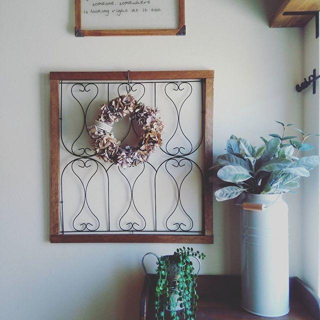 壁に100均で冬のおしゃれな飾り付け②