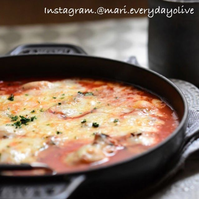 トマトスープの牡蠣グラタン