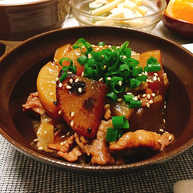 中華風味の美味しい豚バラ大根