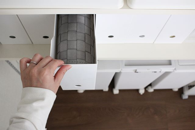 ニトリのファイルボックス収納【キッチン用品】4