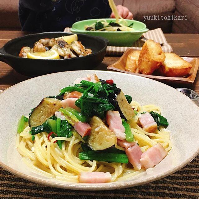 秋茄子の美味しい簡単レシピ☆パスタ4