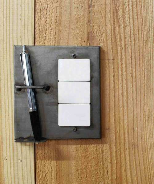 [a.depeche] iron pen holder switch plate wide / アイアン ペンホルダースウィッチプレート ワイド