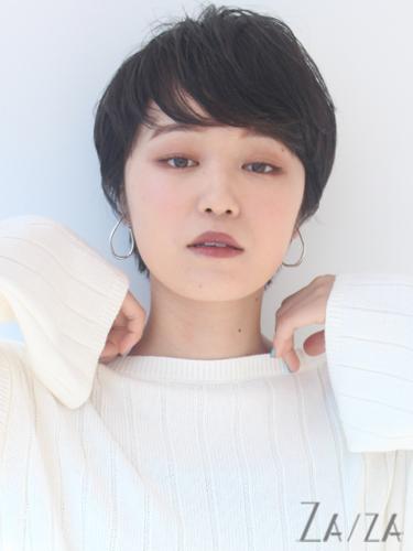 短め前髪×ショート【黒髪・暗髪】