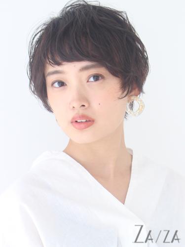 短め前髪×ショート【黒髪・暗髪】2