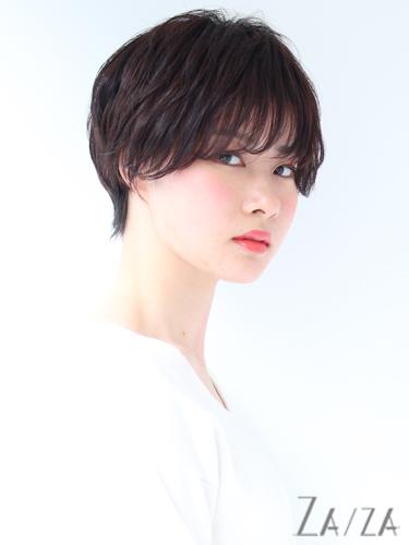 面長に似合うハンサムショート【黒髪】4