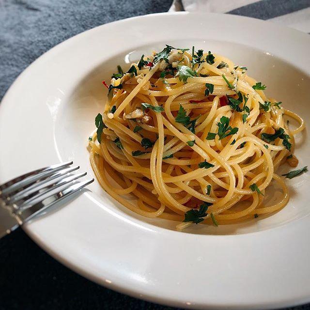 簡単レシピ。パセリとアンチョビのパスタ