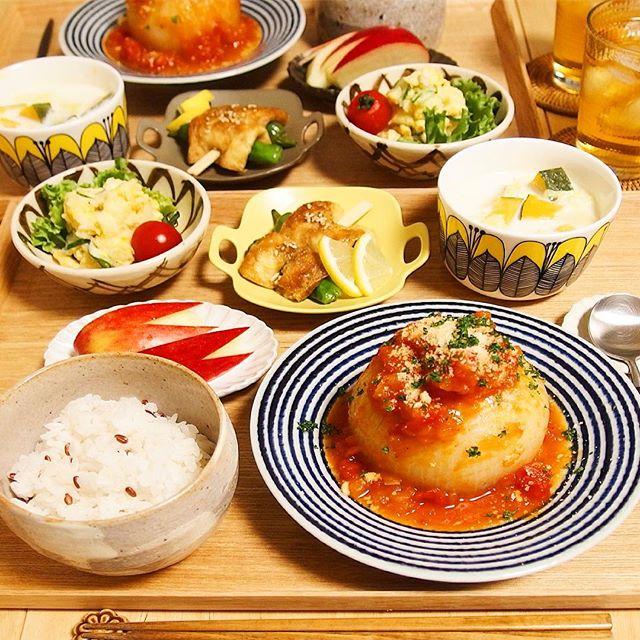 トロトロ絶品料理。玉ねぎの肉詰め