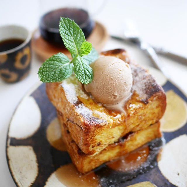イギリスパンのフレンチトースト