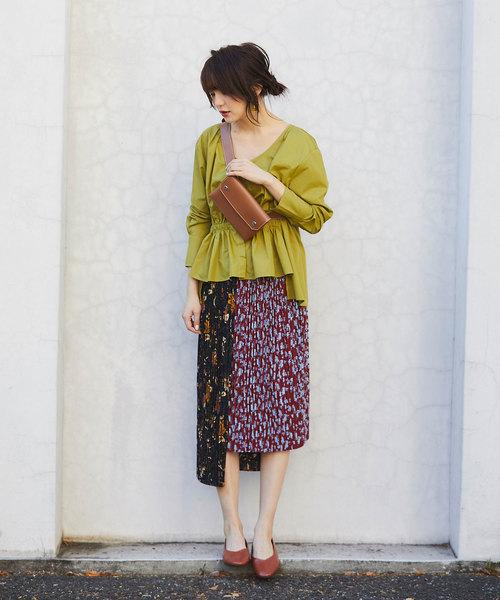 [tocco closet] MANYway 花柄プリーツスカート