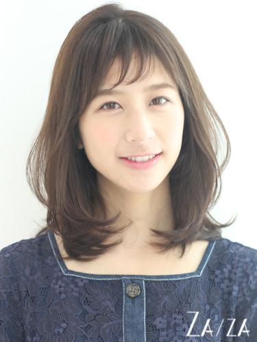 短め前髪×ミディアム16