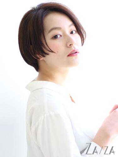 面長に似合うハンサムショート【前髪なし】2