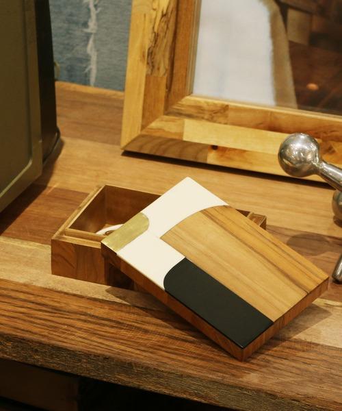 [Global Forme Concrete] WOOD BOX CHAITRA/AVANI 小物入れ アクセサリーボックス