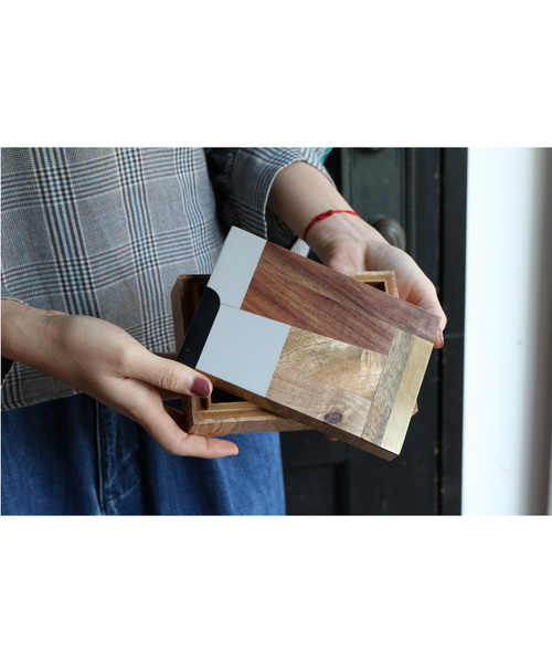 [Global Forme Concrete] WOOD BOX CHAITRA/AVANI 小物入れ アクセサリーボックス2
