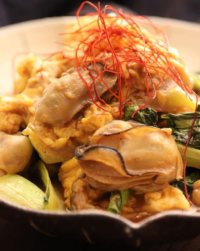 プリプリ美味しい。牡蠣と卵のオイスター炒め