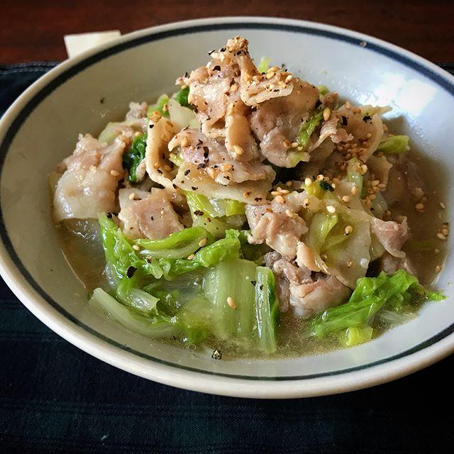レンジで簡単レシピ。とろとろ豚バラ白菜