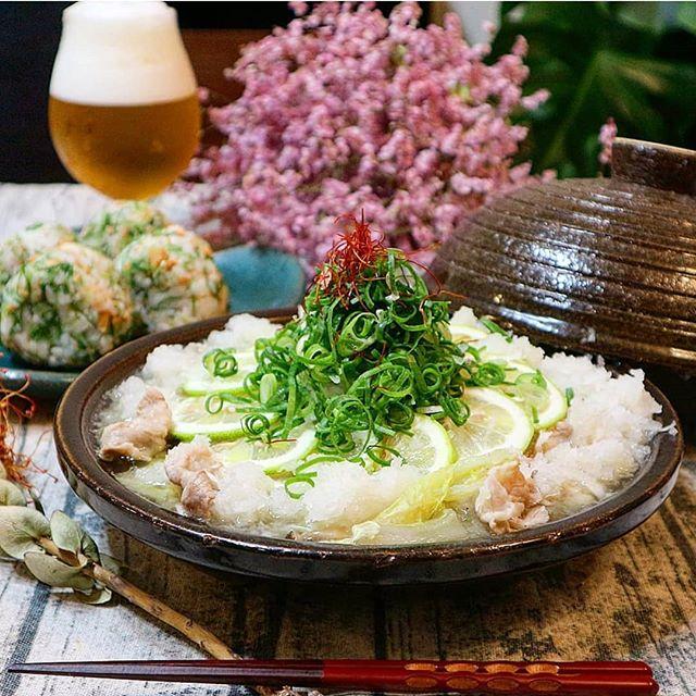和風の人気レシピに。豚のみぞレモン鍋