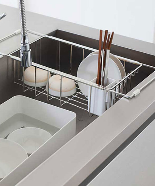 [sarasa design store] nsp ディッシュラック/水切りかご ミニマルセット|フラットバータイプ