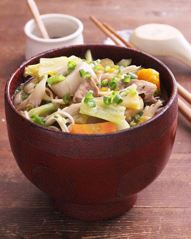 冬に食べたい!芋煮で温麺♪