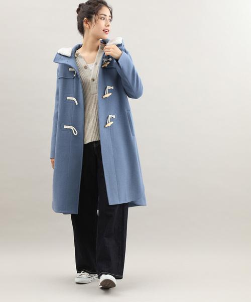 メルトンダッフルコートの服装