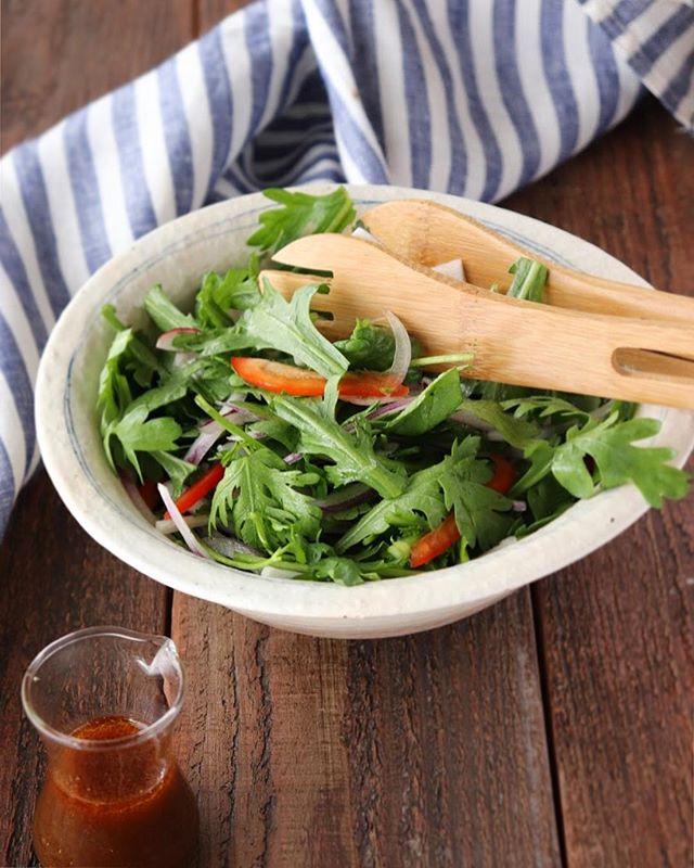 美味しい柚子胡椒ドレの簡単アジアンサラダ