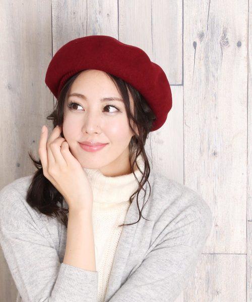 [三京商会] メリノウール100%ベレー帽